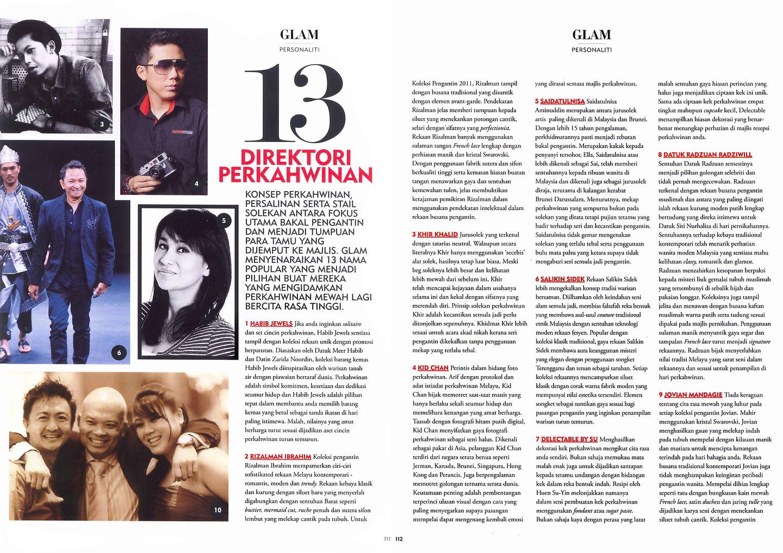 Glam Magazine: The Wedding Directory