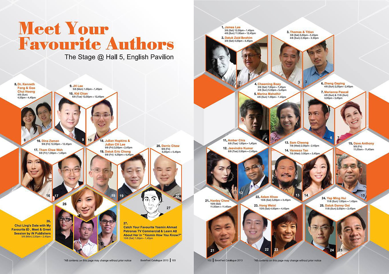 BookFest Catalogue 2013: Meet Your Favourite Authors
